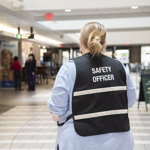 Safety Officer monitoring Beaumont hospital public spaces