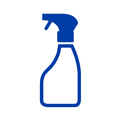 Disinfecting and cleaning icon