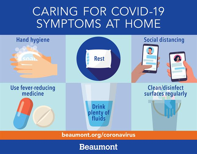 Caring for COVID-19 symptoms at home