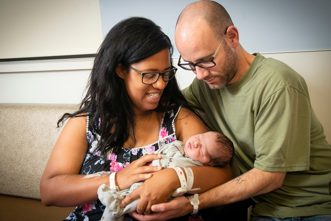 Family birth at Beaumont Hospital in Farmington Hills
