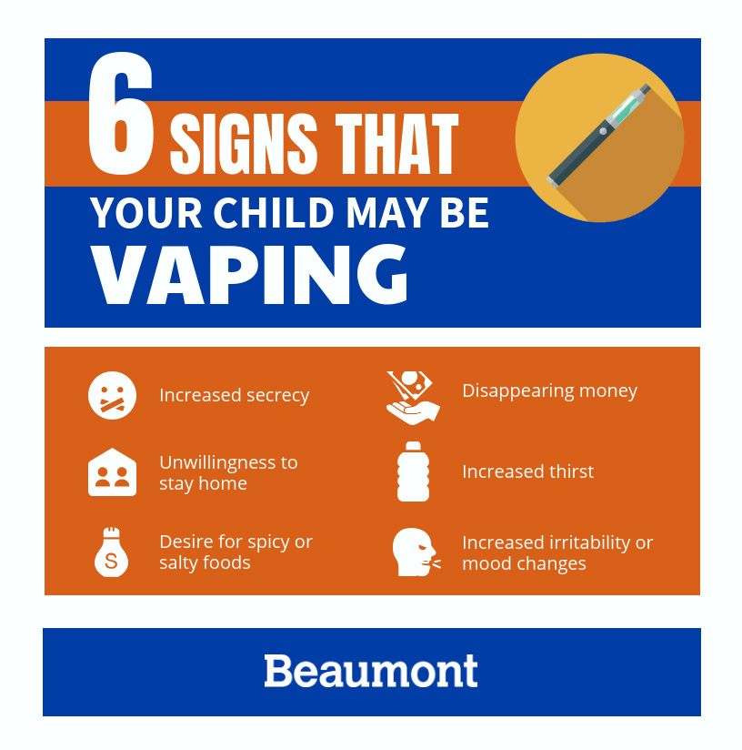 Signs your child may be vaping