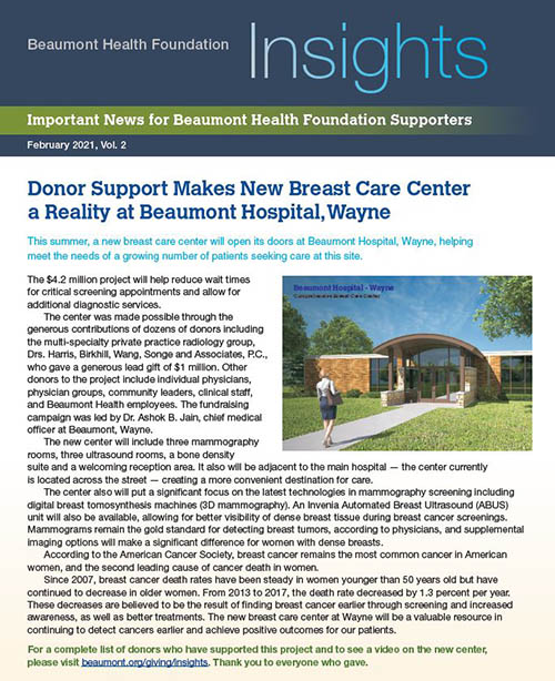 Beaumont Health Insights, February 26, 2021 Issue