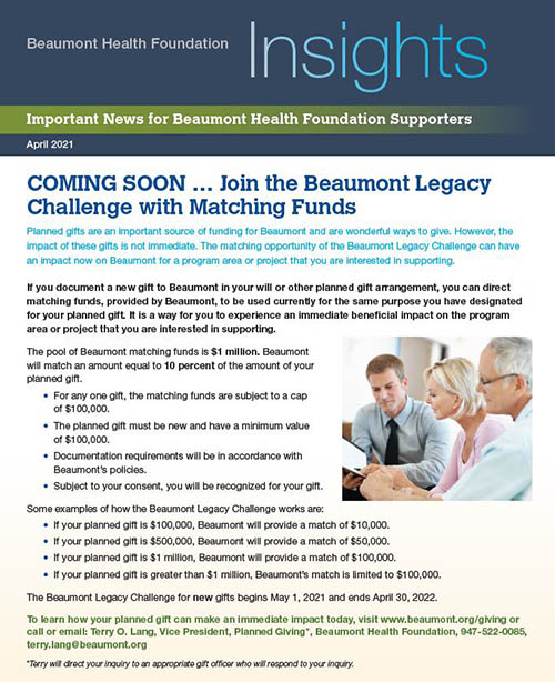 Beaumont Health Insights, April 21, 2021 Issue