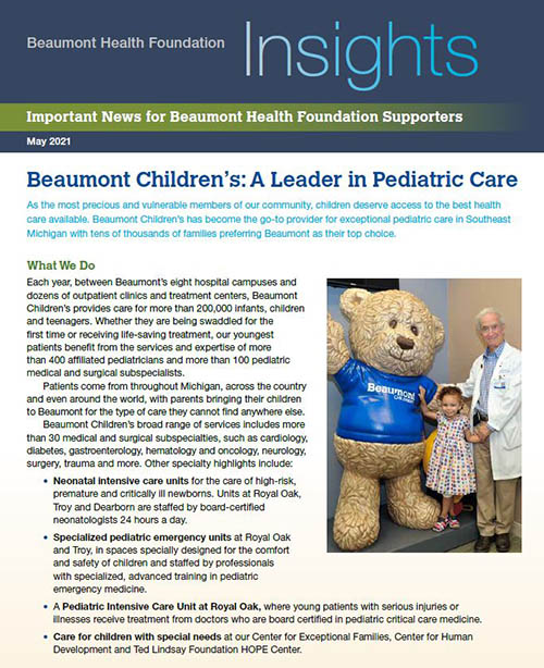 Beaumont Health Insights, May 2021 Issue