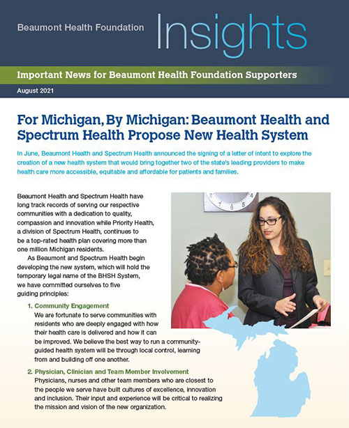 Beaumont Health Insights, August 2021 Issue