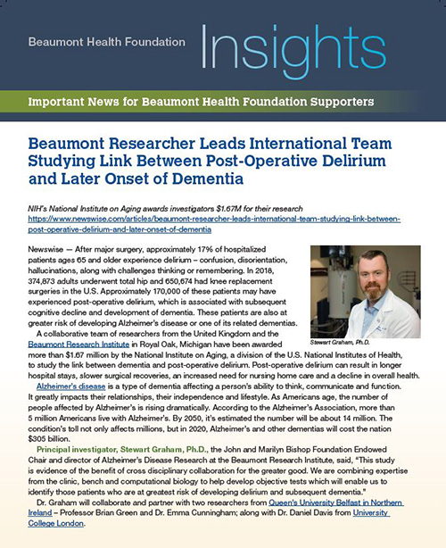 Beaumont Health Insights, November 19, 2020 Issue