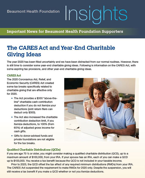 Beaumont Health Insights, December 15, 2020 Issue