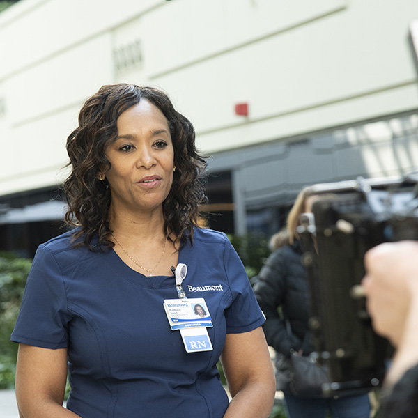 Beaumont Nurse Colleen Joseph featured in TV commercial