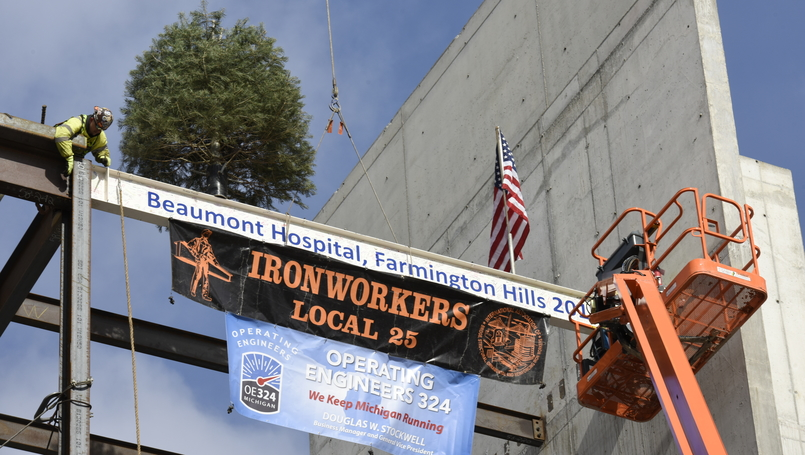 Topping off at Beaumont Hospital, Farmington Hills