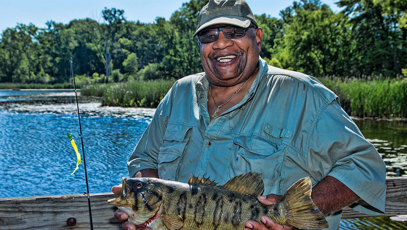 Ivan Brown fishing