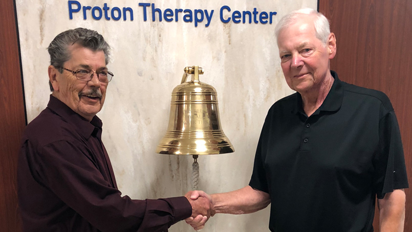 Paul and Gene with Proton Bell